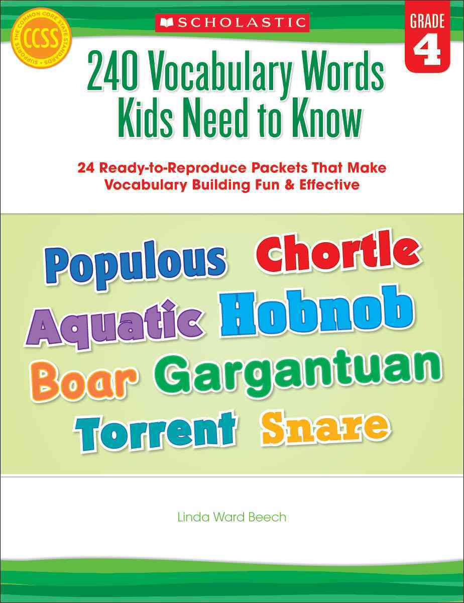 240 Vocabulary Words Kids Need to Know, Grade 4 By Beech, Linda Ward